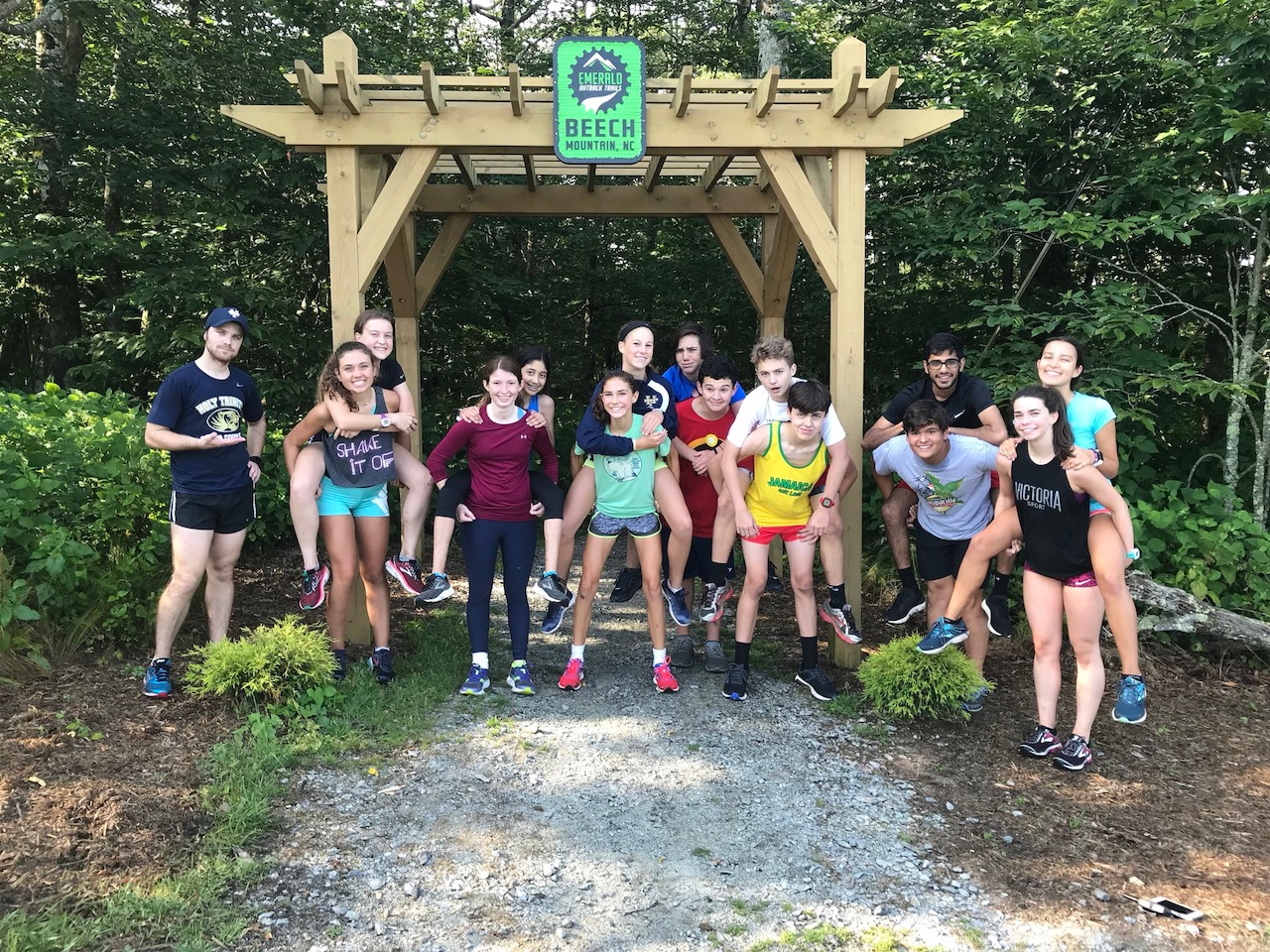 Members of the cross country team spent a week running the hills in North Carolina.