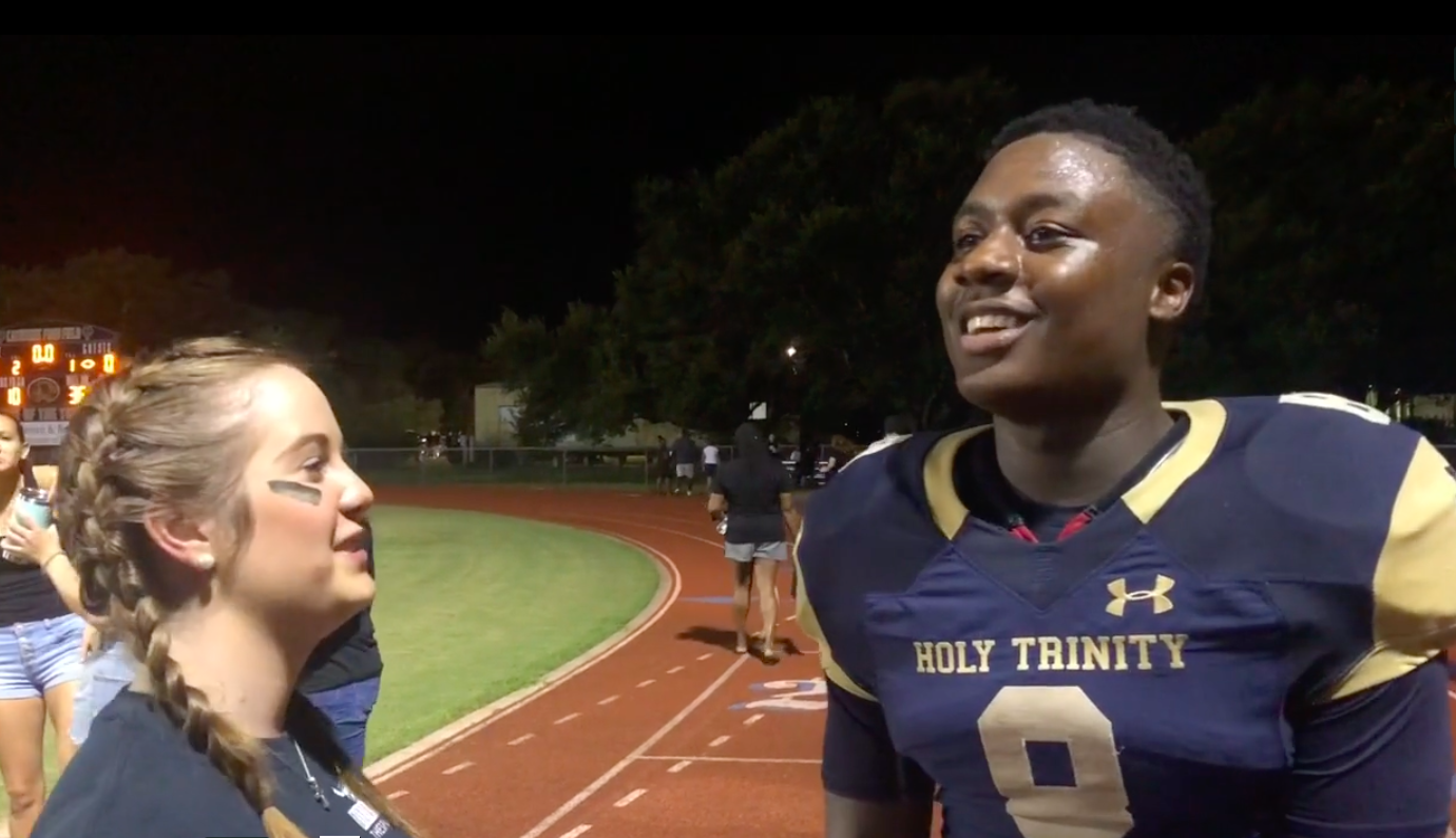 #8 Running Back Larry Hill reflects on the Tigers' performance Friday night.