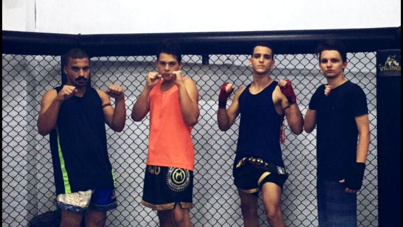 Dutra trains with his team in Rio for Mixed Martial Arts.