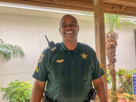 Deputy Mark Spencer makes sure that the HT campus is always safe.