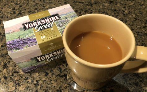 The preferred tea when making the practically perfect cup is Taylors of Harrogate Yorkshire Gold.