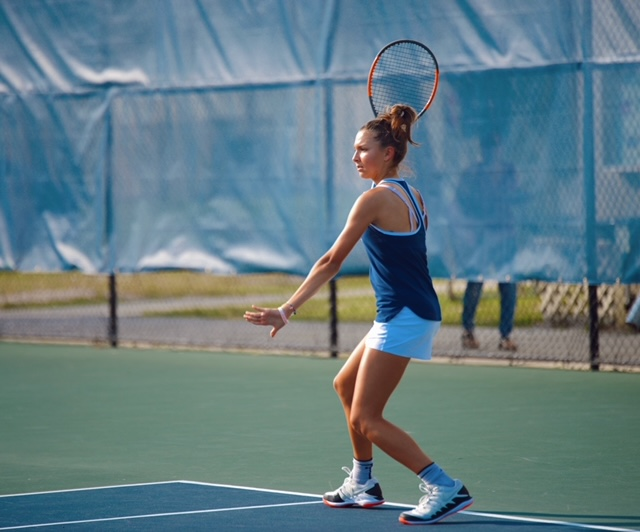 Freshman Alya Dzheneva is on the tennis court six days a week.