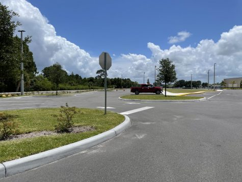 The new parking lot at the athletic center will be used for overflow and new drivers.