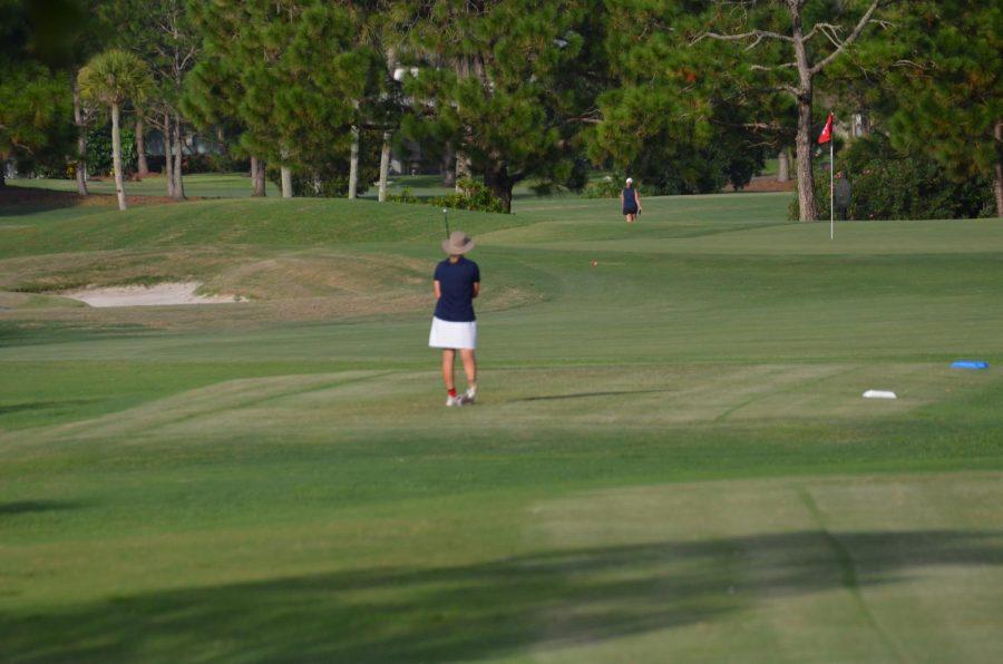Team captain Emily Rotgers surveys the course
